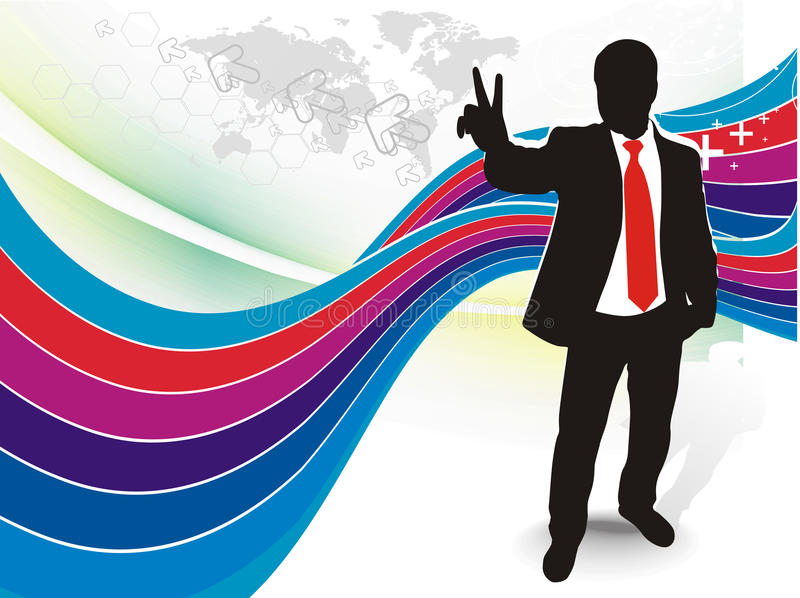 Download Victory sign stock vector. Image of business, male, empty - 13182011