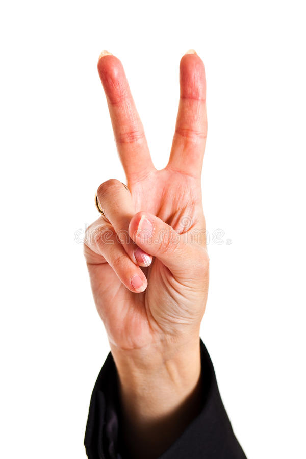 Victory sign royalty free stock photography
