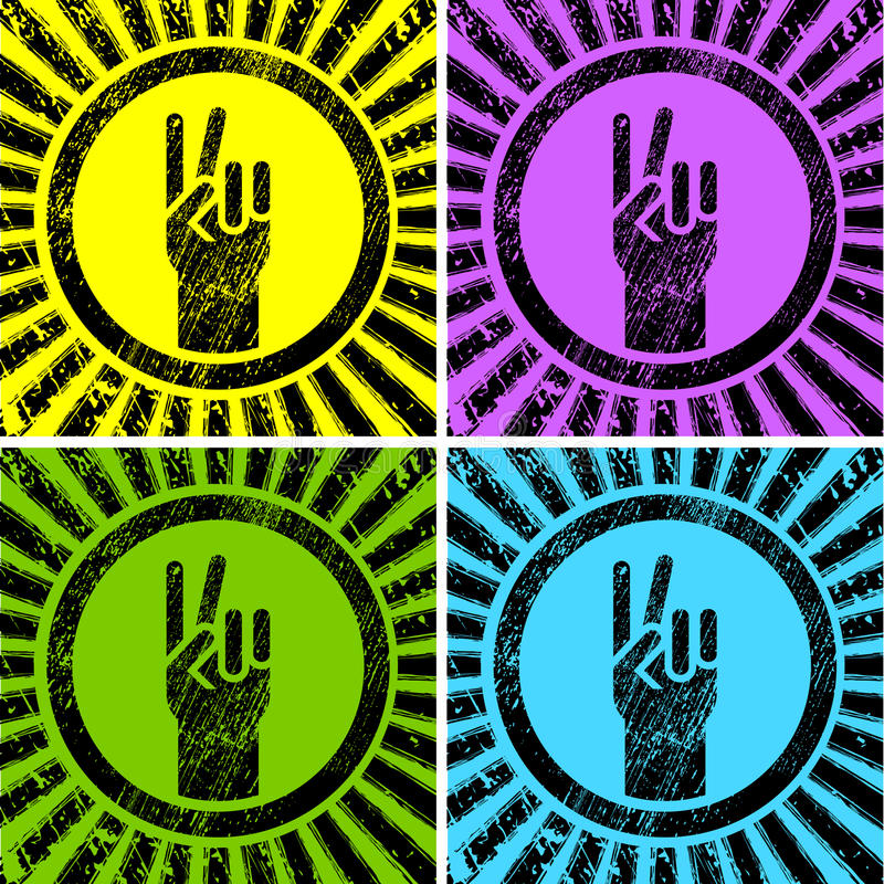 Download Victory sign stock vector. Illustration of black, fist - 23148779