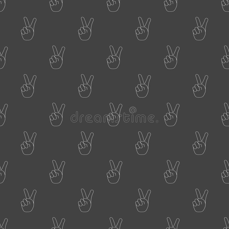 Victory sign stock illustration