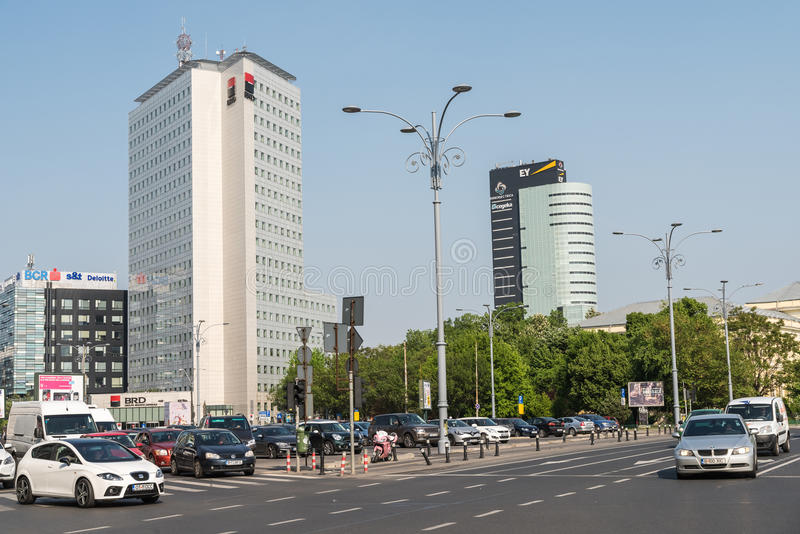 Victory Square In Bucharest images stock