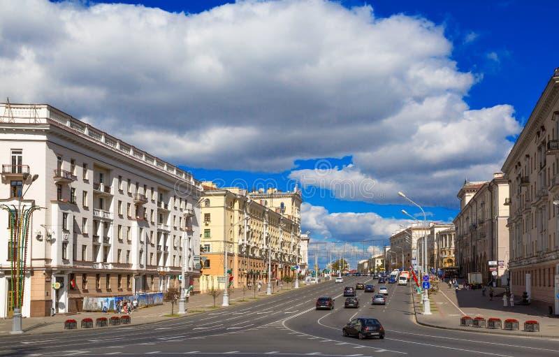 Victory Square, Minsk, Belarus, images libres de droits