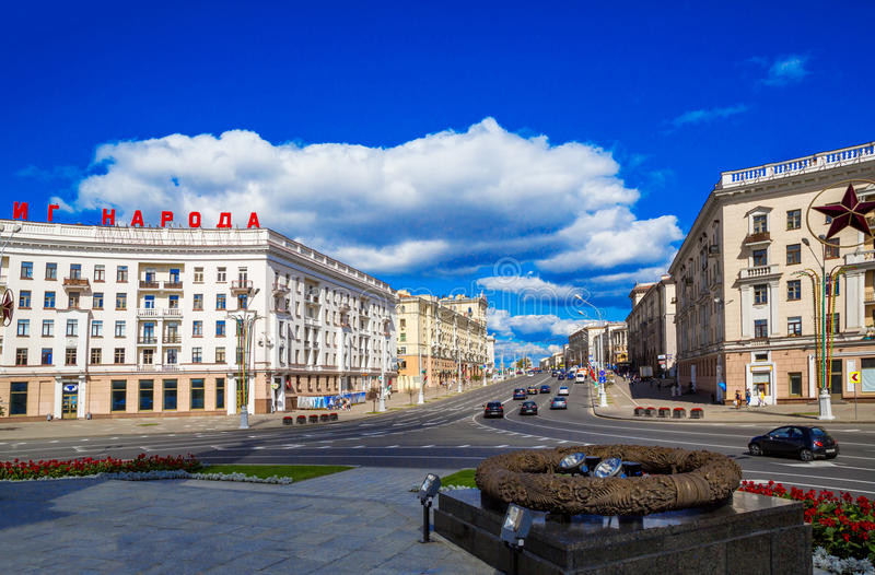 Victory Square, Minsk, Belarus, photographie stock