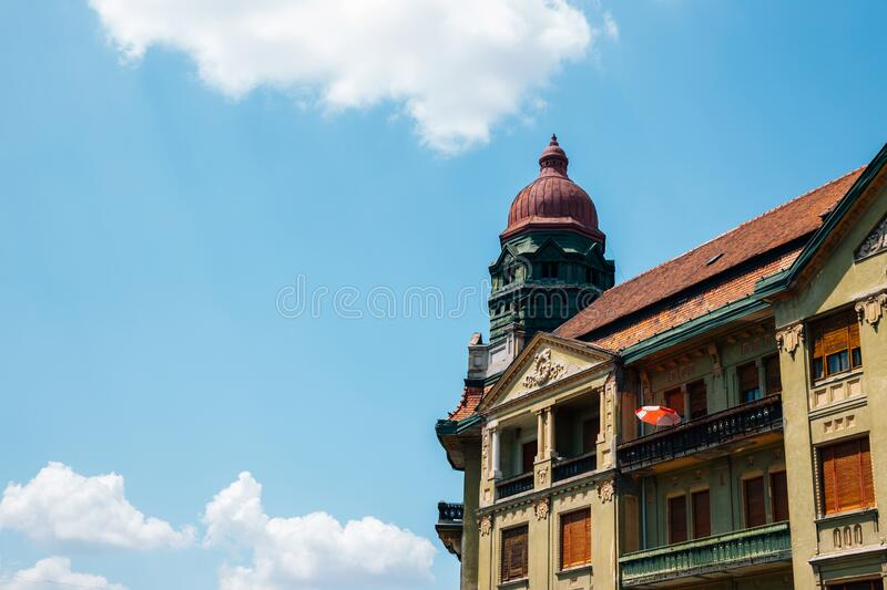 Victory square old building in Timisoara, Romania. Europe royalty free stock photos
