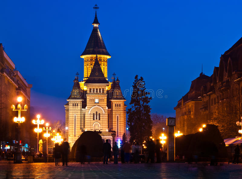 Victory square, Timisoara royalty free stock images