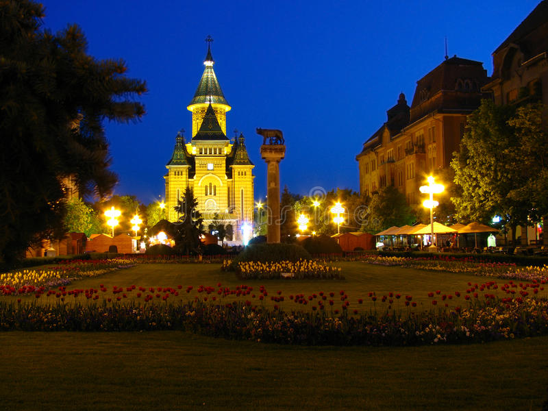 Victory square, Timisoara stock image