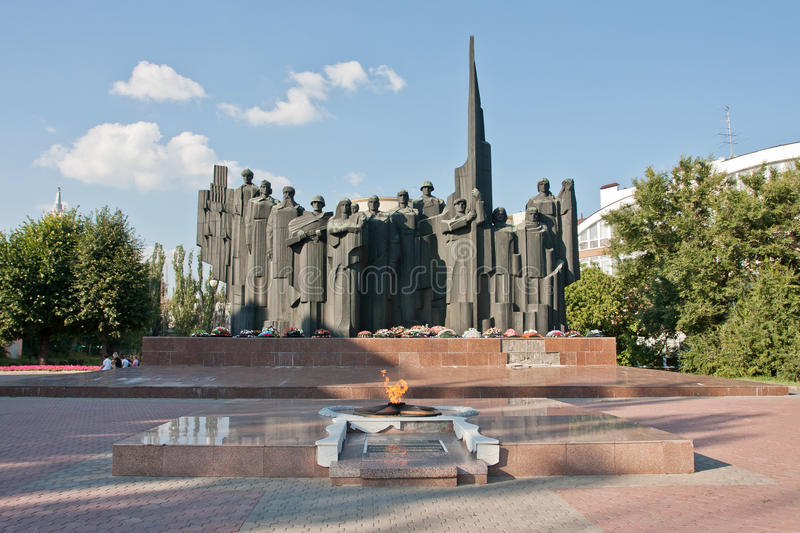 Victory Square (Voronezh), Russia. Outdoor. Summer sketch royalty free stock image