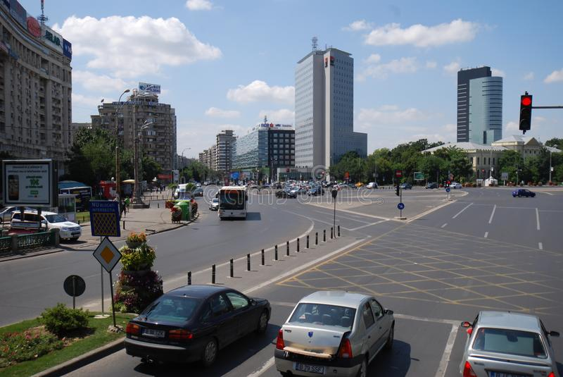 Victory Square, zona metropolitana, coche, vehículo de tierra, zona urbana imagen de archivo libre de regalías
