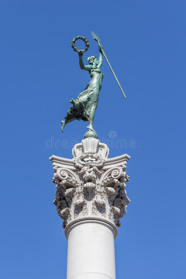 Victory Statue in Union Square, San Francisco, Kalifornien stockfotos