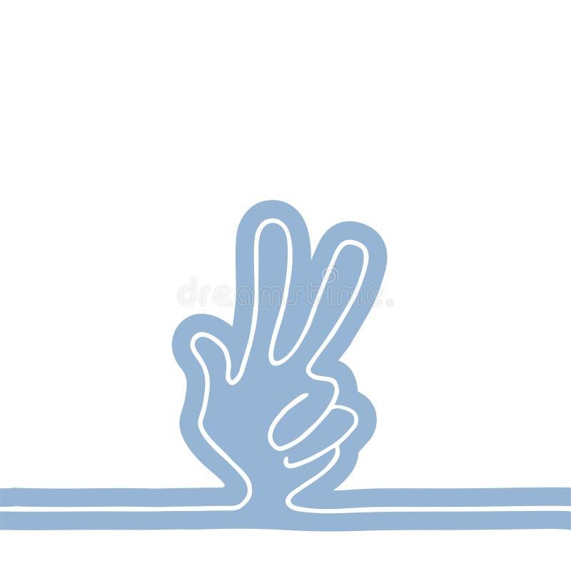 Download Victory Symbol Stock Vector - Image: 83719436