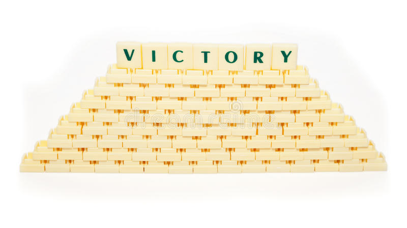 Victory Text Royalty Free Stock Photography