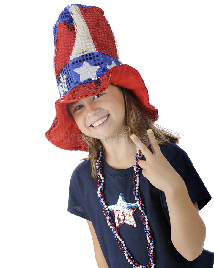 Download Victory for Uncle Sam stock image. Image of girl, child - 25142159
