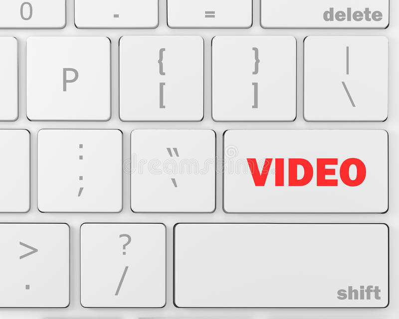 vidéo illustration stock
