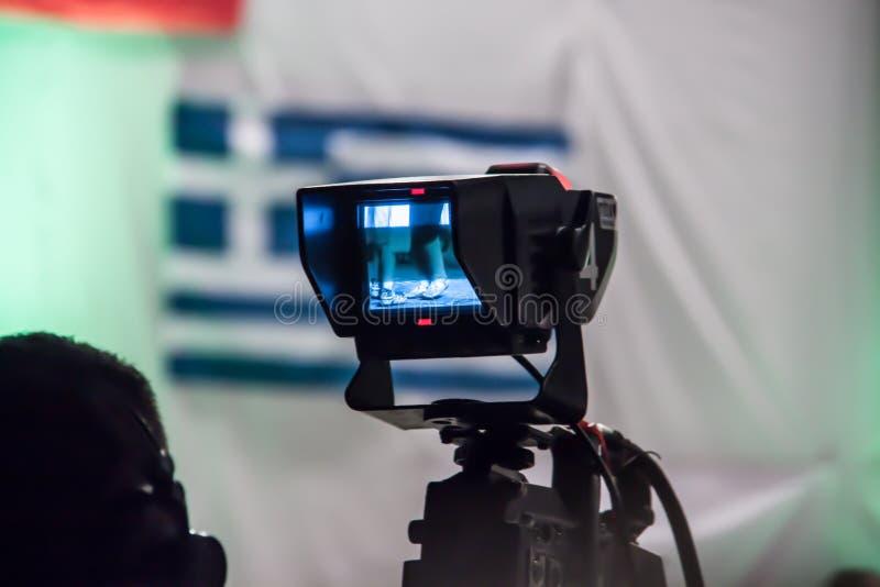 Vidéo de tir de Camerman au festival photo libre de droits