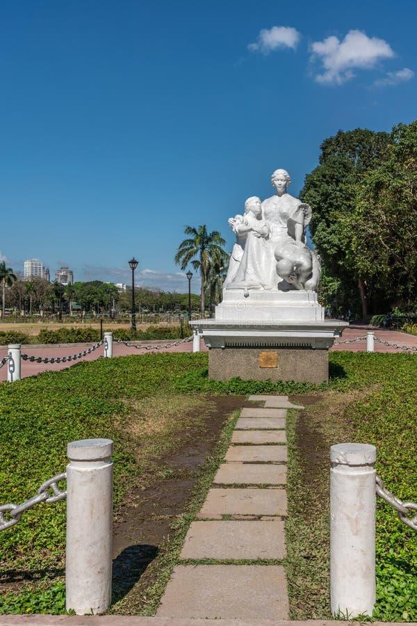 Vidéo du monument de La Madre Filipina au Rizal Park à Manille aux Philippines images libres de droits