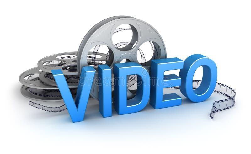 Vidéo. Graphisme de concept illustration libre de droits