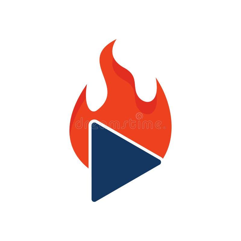 Vidéo Logo Icon Design de brûlure illustration libre de droits