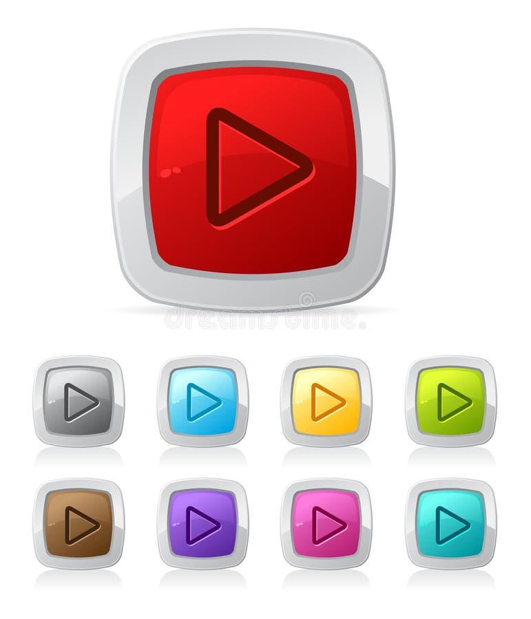 vidéo lustré de joueur de bouton illustration libre de droits