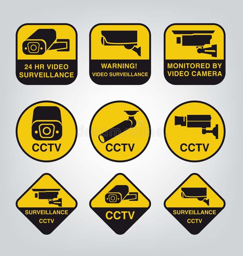 Vidéo surveillance illustration de vecteur