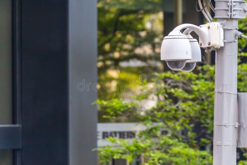 Vid?o surveillance de degr? de s?curit? de t?l?vision en circuit ferm? une rue photo stock