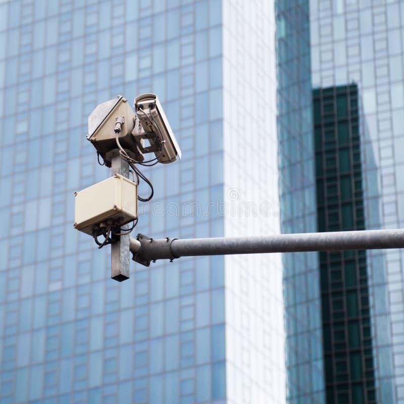Vidéo surveillance de rue images libres de droits