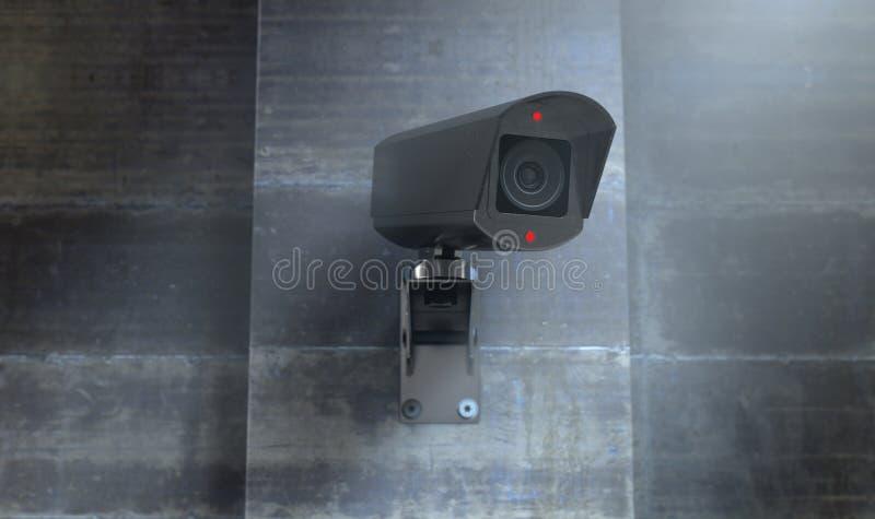 Vidéo surveillance la nuit illustration de vecteur