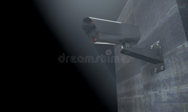 Vidéo surveillance la nuit illustration stock