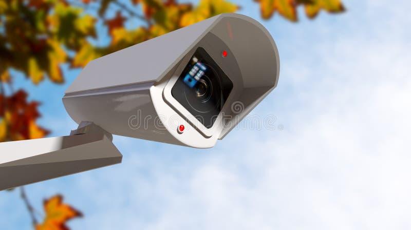 Vidéo surveillance pendant la journée illustration libre de droits