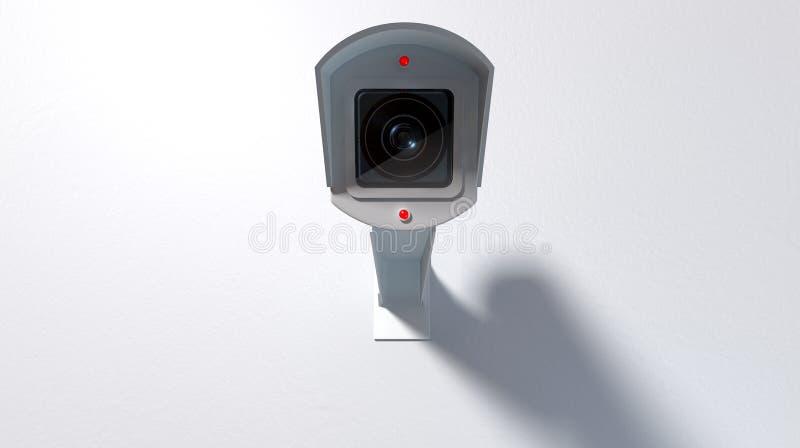 Vidéo surveillance sur le blanc illustration de vecteur