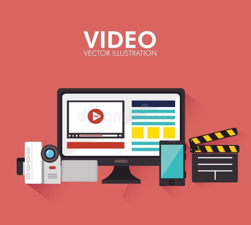 Vidéos et divertissement illustration stock