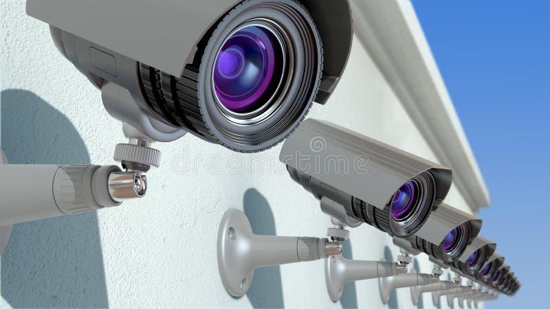 Vidéos surveillance illustration libre de droits