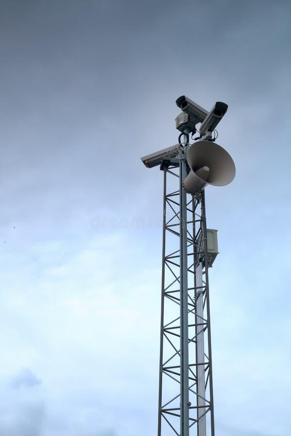 Vidéos surveillance photo libre de droits