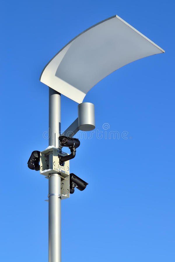 Vidéos surveillance et éclairage moderne photo libre de droits