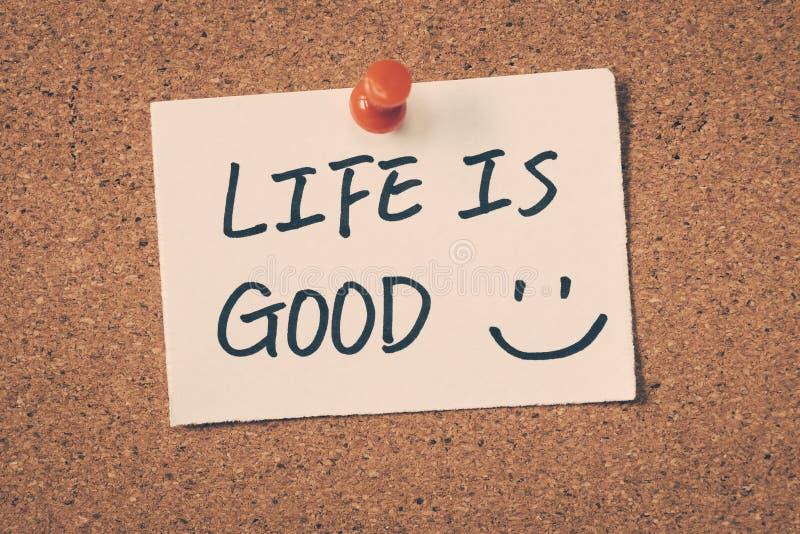 A vida é boa foto de stock