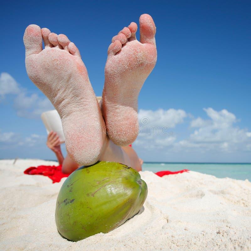 A vida é uma praia imagens de stock royalty free