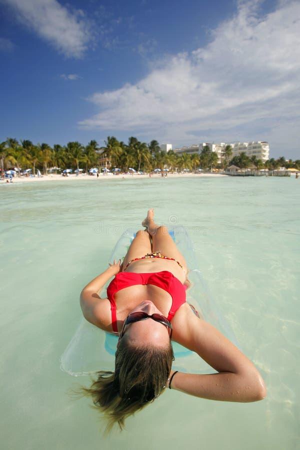 A vida é uma praia (Lilo) fotos de stock