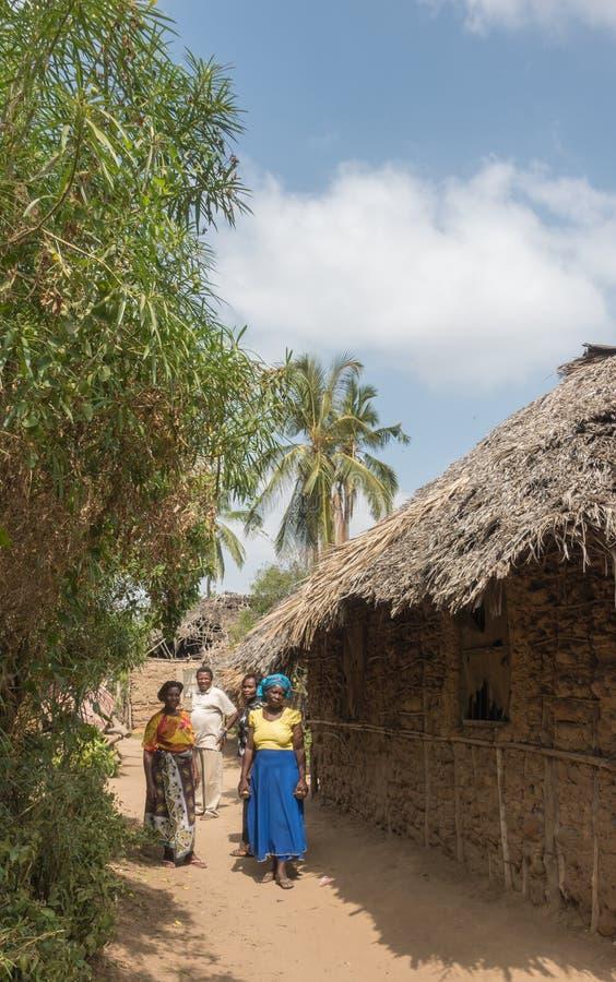 Vida africana del pueblo en Kenia fotografía de archivo libre de regalías
