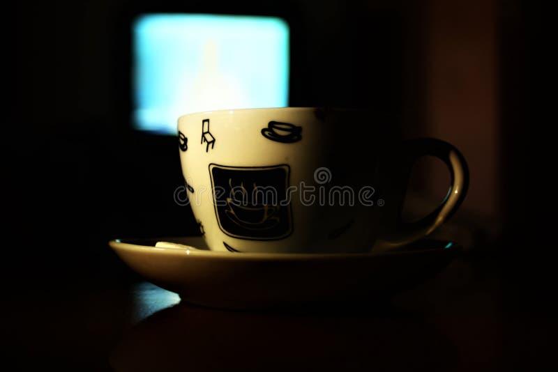 A vida começa após o café fotos de stock