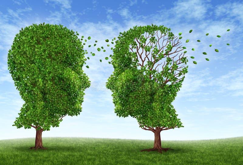 Vida con Alzheimers stock de ilustración