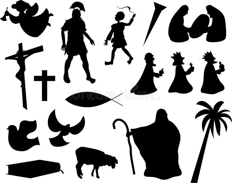 Vida cristã ilustração royalty free