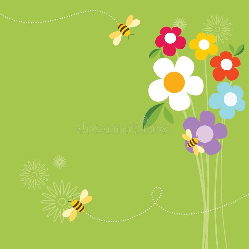 Vida da abelha ilustração stock
