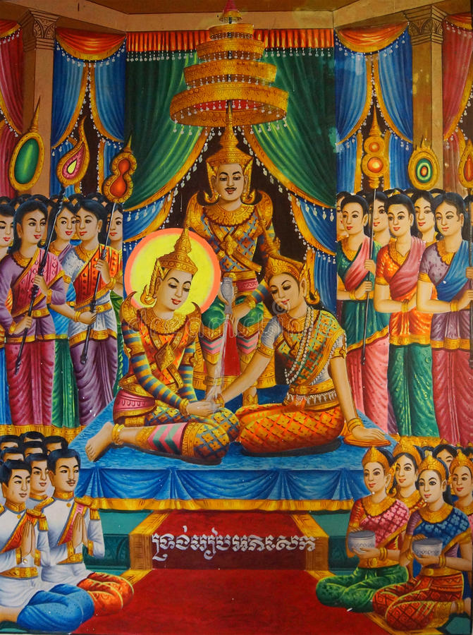 Vida da Buda fotografia de stock royalty free