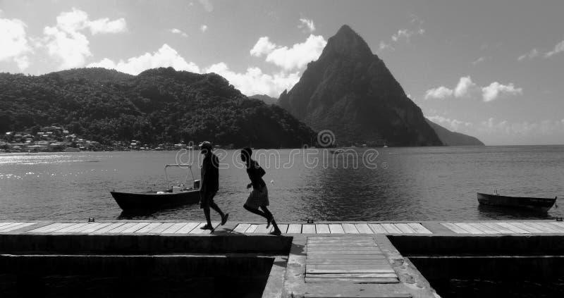 Vida da ilha das Caraíbas fotografia de stock royalty free