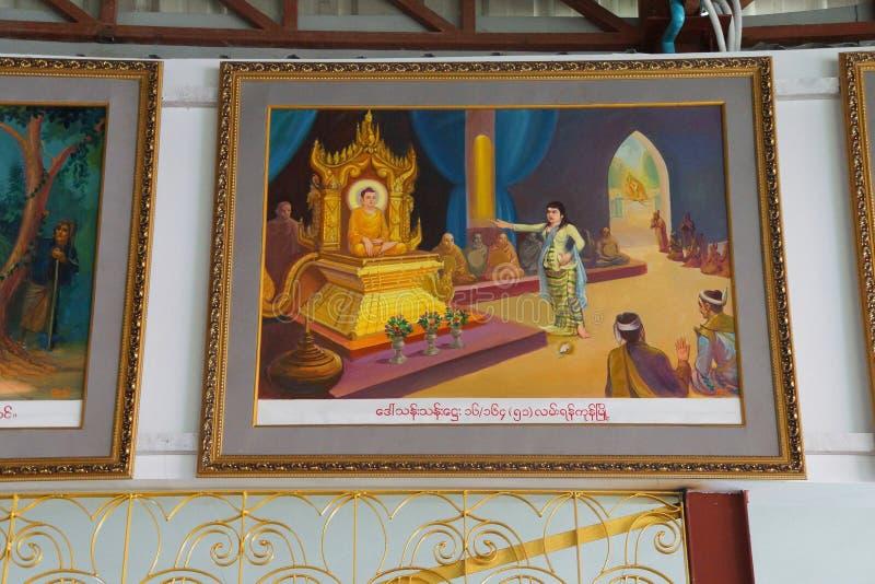 Vida da pintura da Buda fotos de stock royalty free
