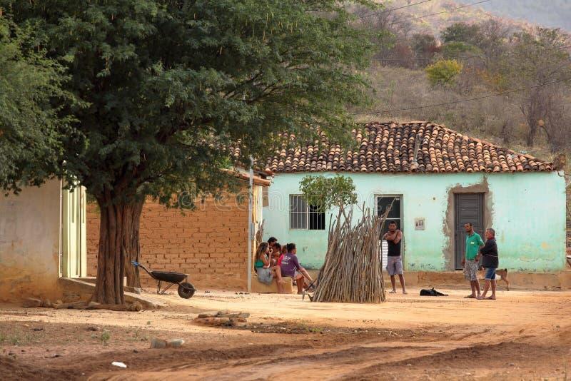 Vida da vila em Brasil em Petrolina fotografia de stock