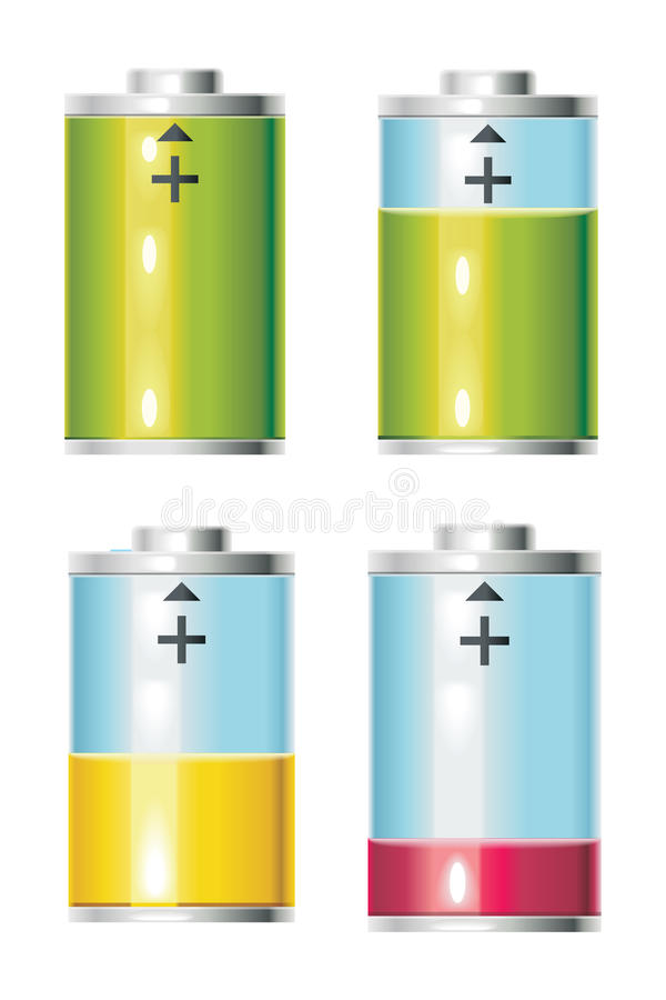 Vida de batería ilustración del vector
