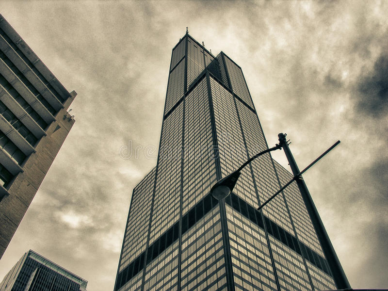 Vida de cidade de Chicago, EUA imagem de stock