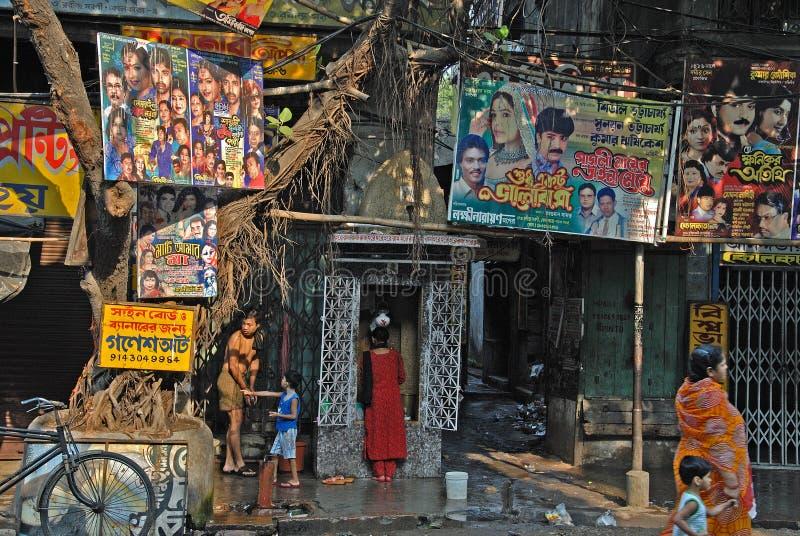 Vida de cidade de Kolkata fotografia de stock