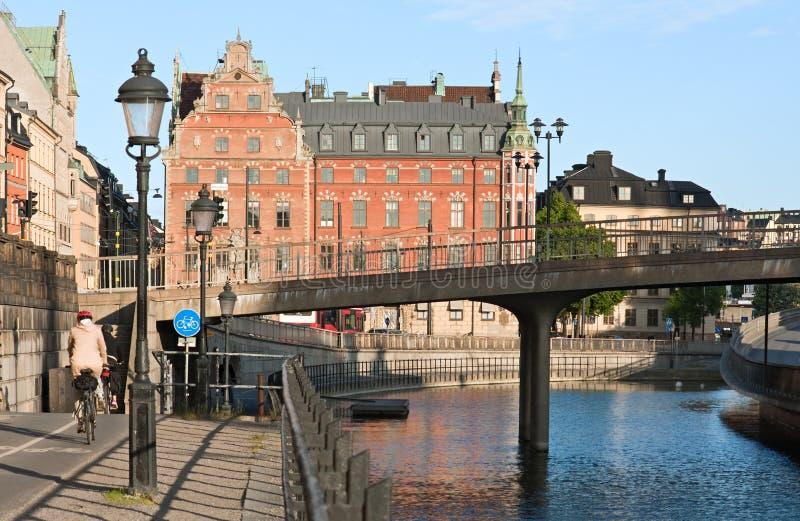 Vida de ciudad en Estocolmo fotos de archivo