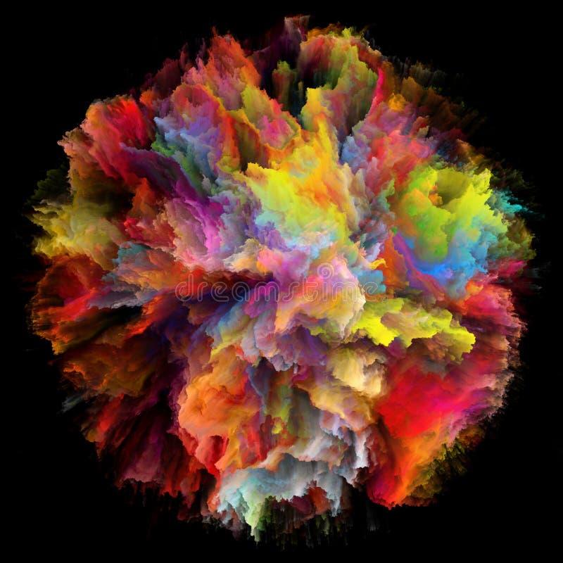 Vida de Digitas da explosão colorida do respingo da pintura ilustração stock